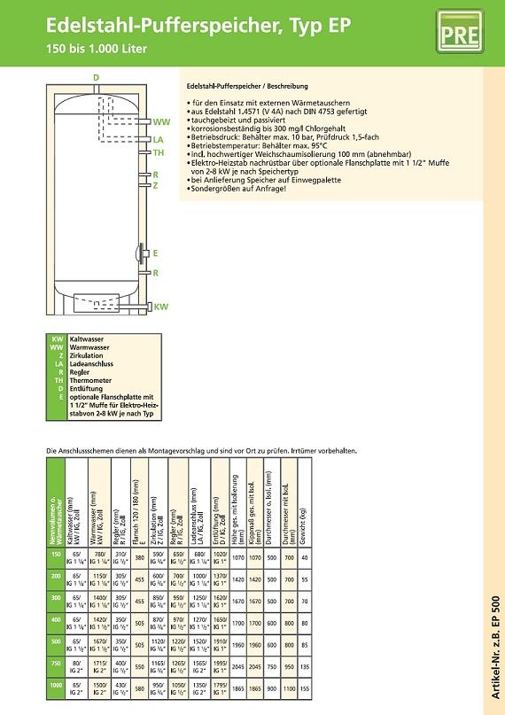 pufferspeicher, speicher, puffer, pre, prehalle, heizung, solar, solarthermie, kollektor, flachkollektor, viesmann, buderus, brötje, vaillant, preisvergleich, kombispeicher, edelstahl, solarspeicher,