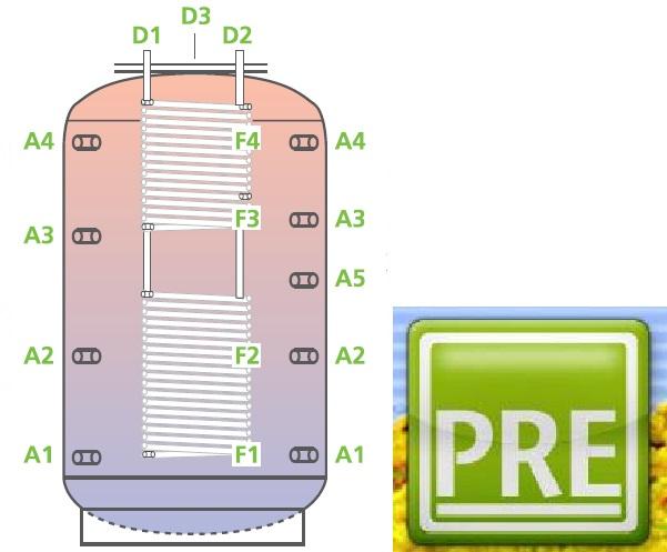 Kombispeicher, Multifunktionsspeicher, Speicher, Puffer, Pufferspeicher, PRE, prehalle